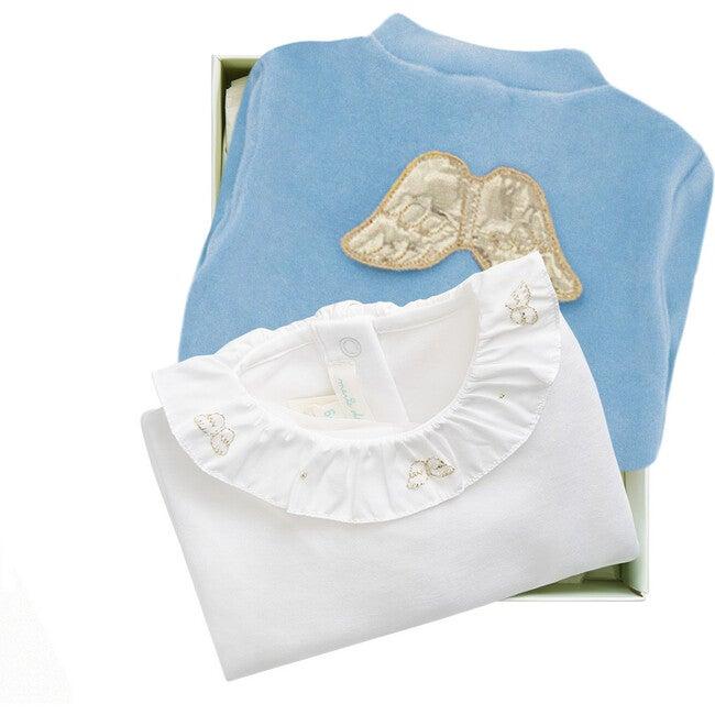 Angel Wing Halo Gift Set in Dusty Blue