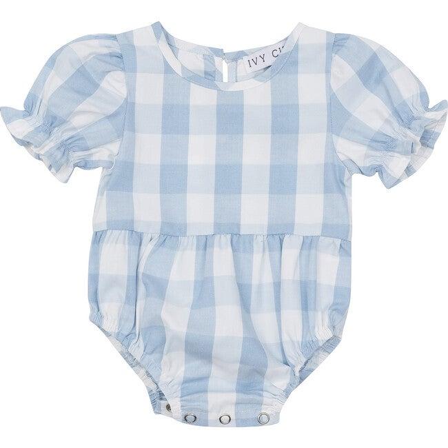 Baby Mia Gingham Bodysuit, Blue