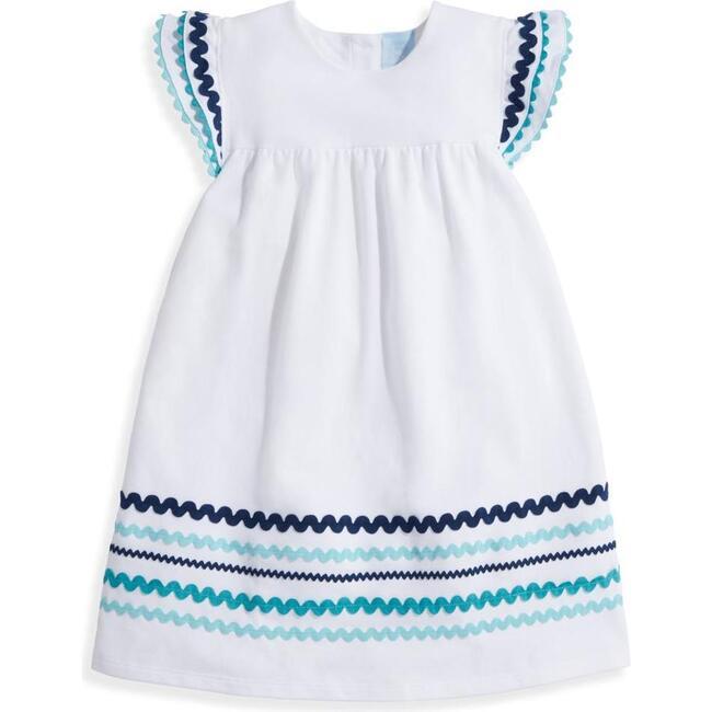 Benton Dress, Blue Trim