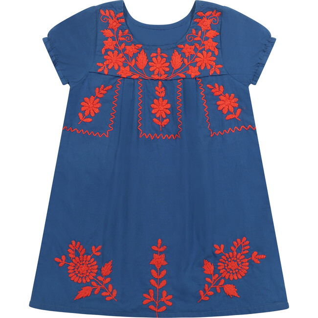 Noor Embroidery Dress, Blue