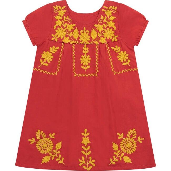 Noor Embroidery Dress, Scarlett