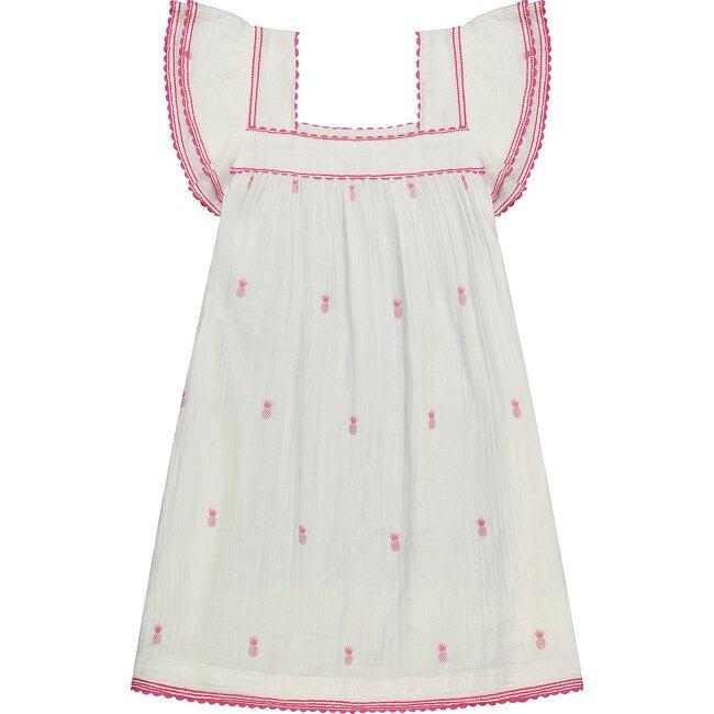 Women's Sandrine Tassel Dress, Pink Pineapple