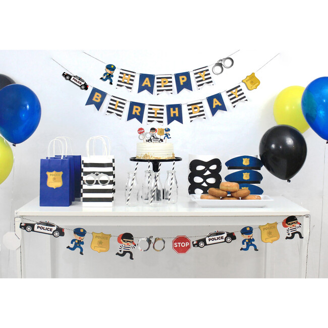 Cops And Robbers Birthday Banner
