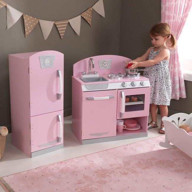 Retro Kitchen & Refrigerator, Pink