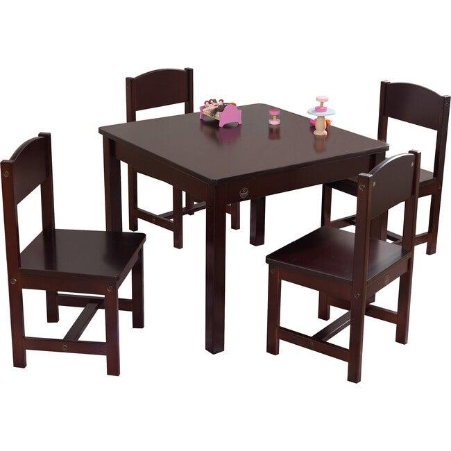 Farmhouse Table & 4 Chairs, Espresso