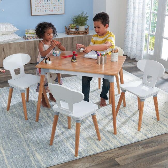 Mid-Century Kid Table & 4 Chairs Set