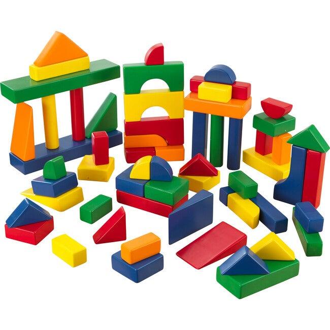 60 Pc Wooden Block Set, Primary Colors