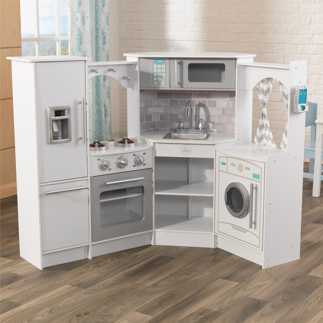 Ultimate Corner Play Kitchen, White