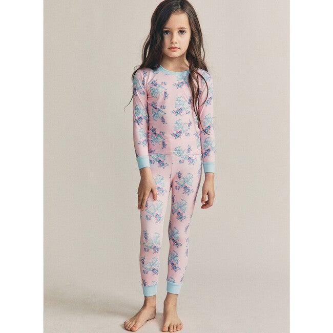 x Love Shack Fancy Rosa Beaux Lulu PJ Set, Candy Pink