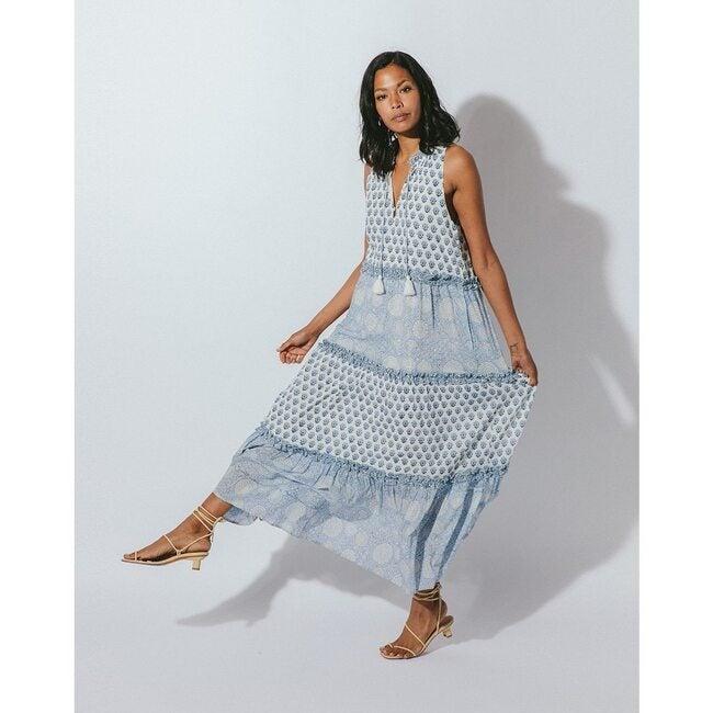 Women's Maddelyn Ankle Dress, Hydrangea