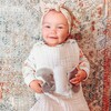 Non Weighted Tummy Sleeper Wearable Lovey Blanket, White and Gray - Blankets - 3