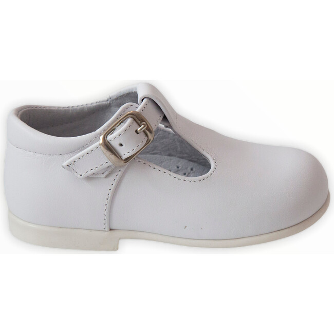 Leather T-Bar Party Shoe, White