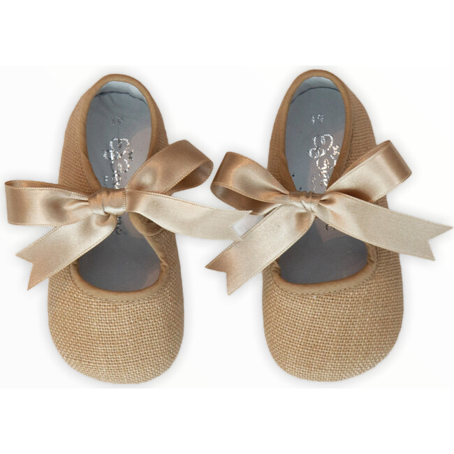 Canvas Mary Jane Crib Shoe with Bow