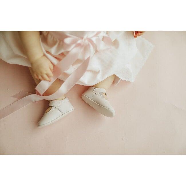 Leather Mary Jane Crib Shoe, Pink