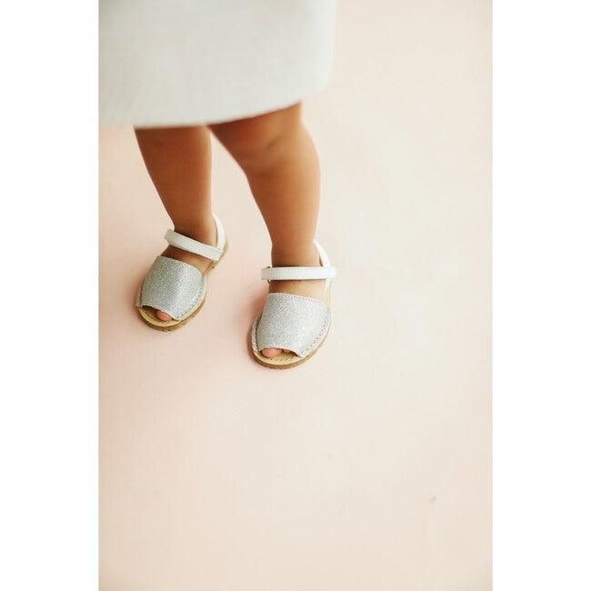 Leather Menorquina Sandals, Glitter