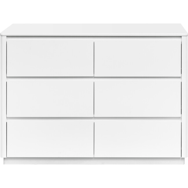 Bento 6-Drawer Assembled Double Dresser, White - Dressers - 1
