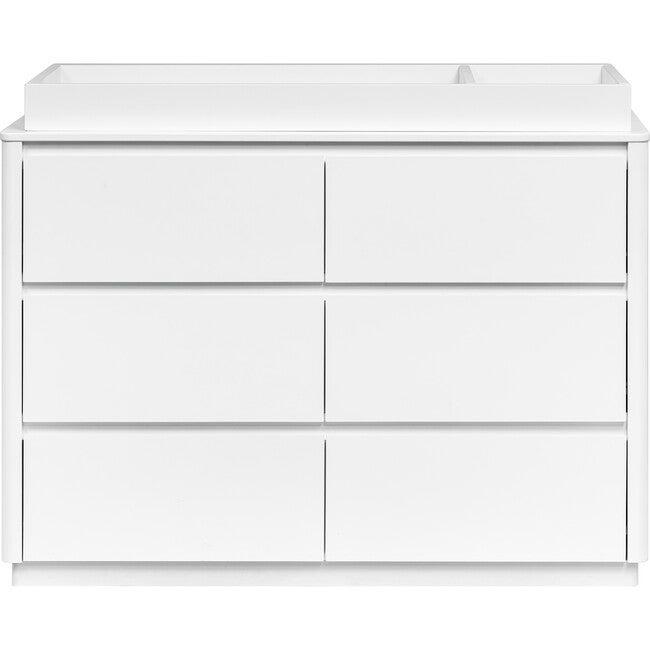 Bento 6-Drawer Assembled Double Dresser, White