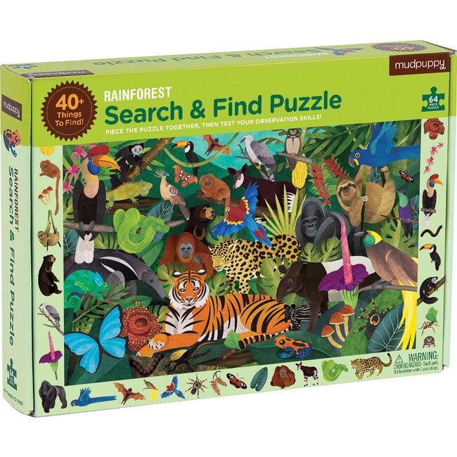 Rainforest: Search & Find Puzzles 64 Pieces