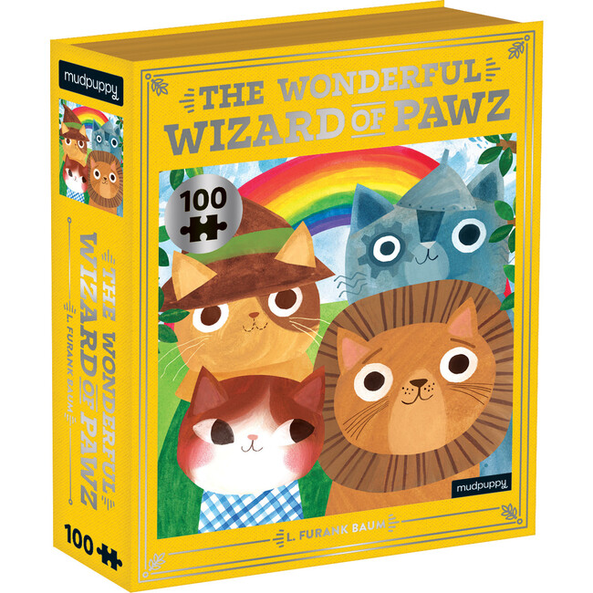 The Wonderful Wizard of Pawz: Bookish Cats 100-Piece Puzzles