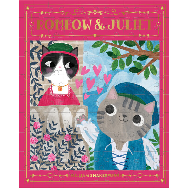 Romeow & Juliet: Bookish Cats 100-Piece Puzzles