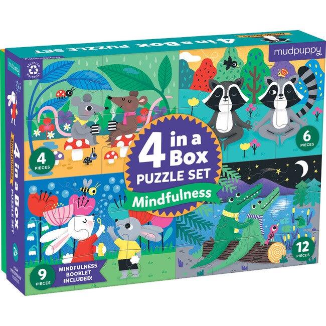 Mindfulness: 4-In-a-Box Progressive Puzzles