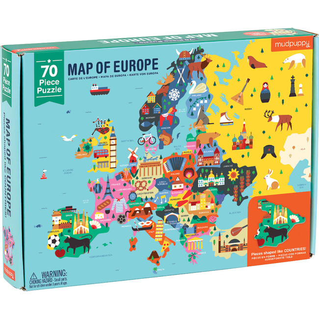 Map of Europe: Geography Puzzles