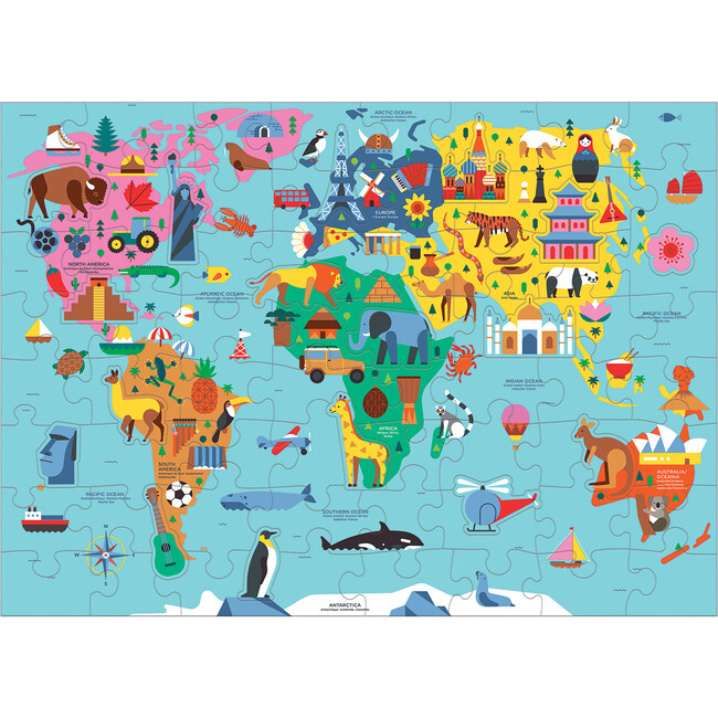Map of the World: Geography Puzzles