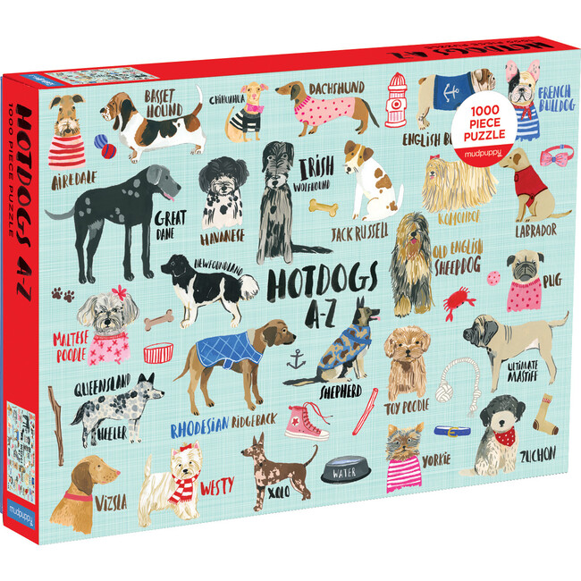 Hot Dogs A-Z: 1000 Piece Family Puzzles