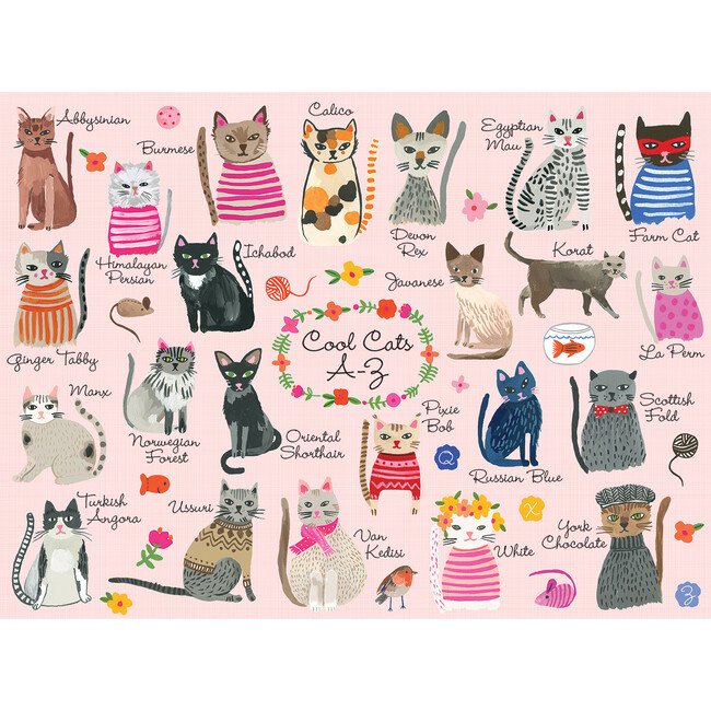 Cool Cats A-Z: 1000 Piece Family Puzzles