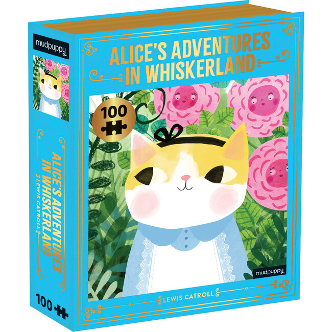 Alice's Adventures in Whiskerland: Bookish Cats 100-Piece Puzzles