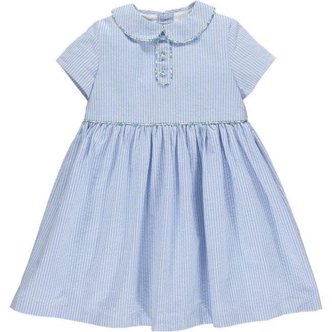 Carole Seersucker Dress, Blue