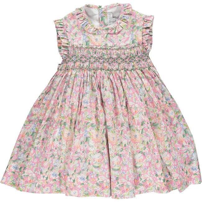 Salome Dress, Pink Floral