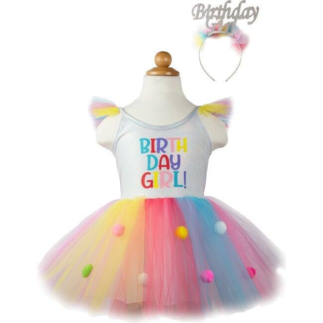Birthday Girl Dress w/Headband, Multi