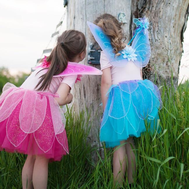 Fancy Flutter Skirt With Wings & Wand, Blue
