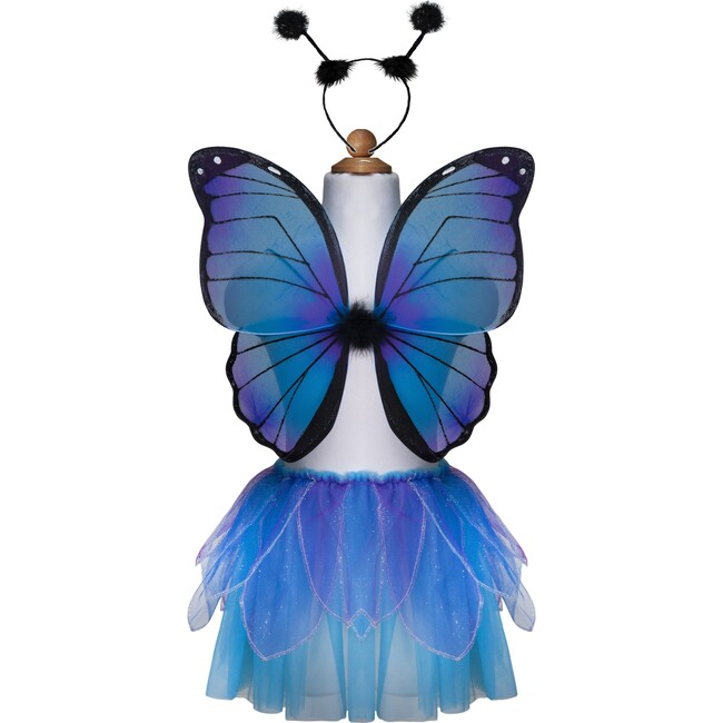 Midnight Butterfly Tutu With Wings & Headband