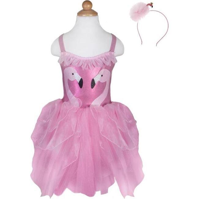Fancy Flamingo Dress & Headband