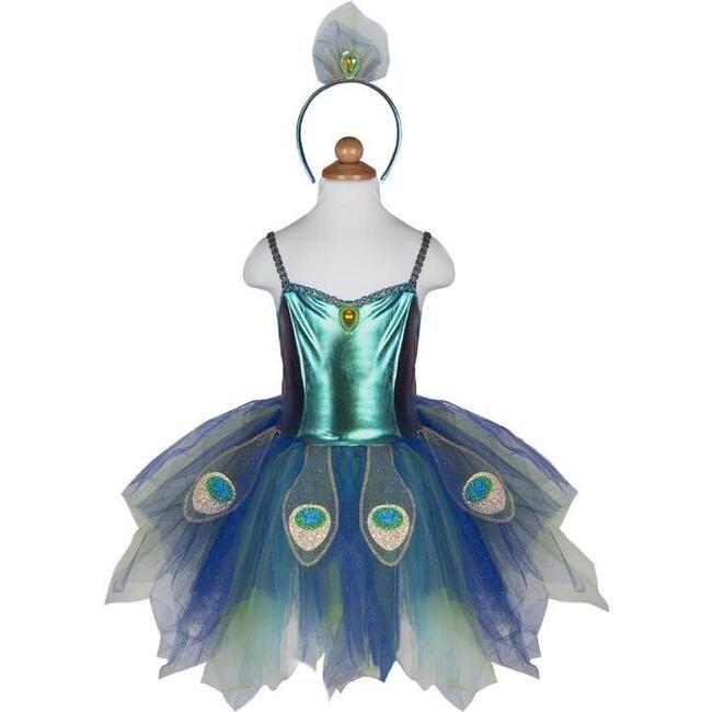 Pretty Peacock Dress & Headband