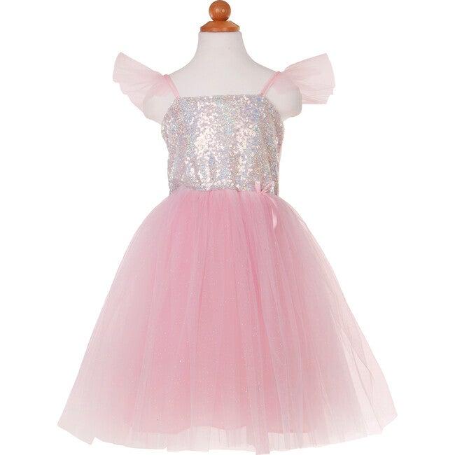 Silver Sequins Princess Dress