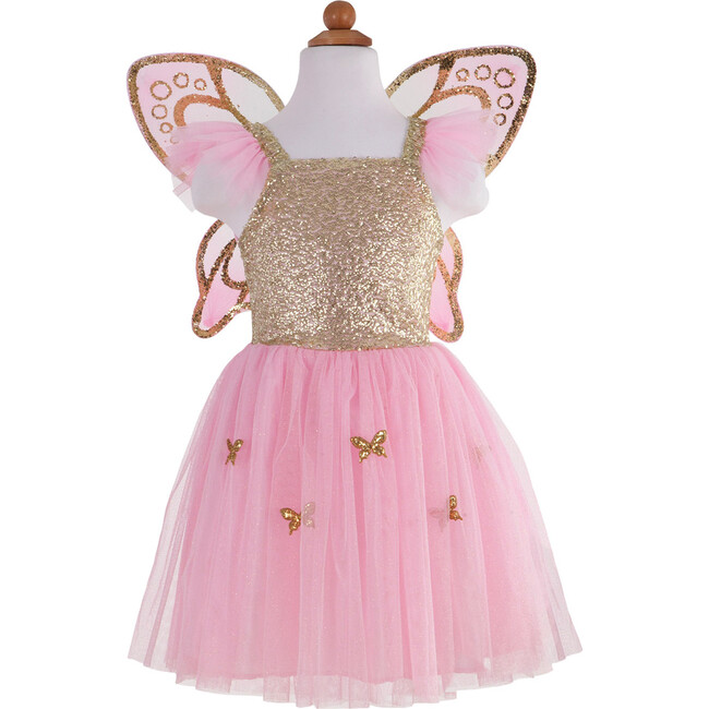 Gold Butterfly Dress and Wings