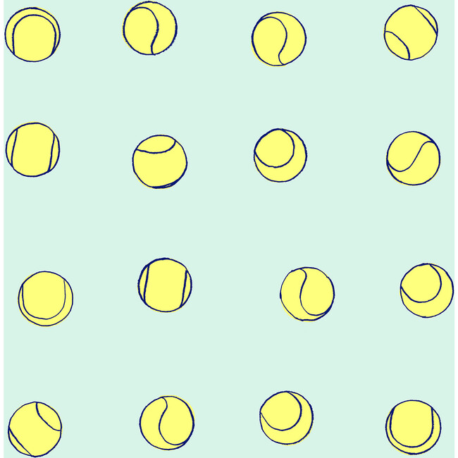 Clare V. Tennis Balls Removable Wallpaper, Mint - Wallpaper - 1