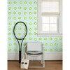 Clare V. Tennis Balls Removable Wallpaper, Mint - Wallpaper - 2