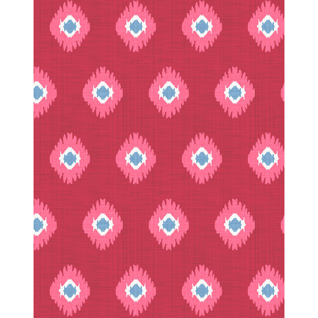 Tangier Medallion Removable Wallpaper, Red