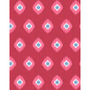 Tangier Medallion Removable Wallpaper, Red - Wallpaper - 1 - thumbnail