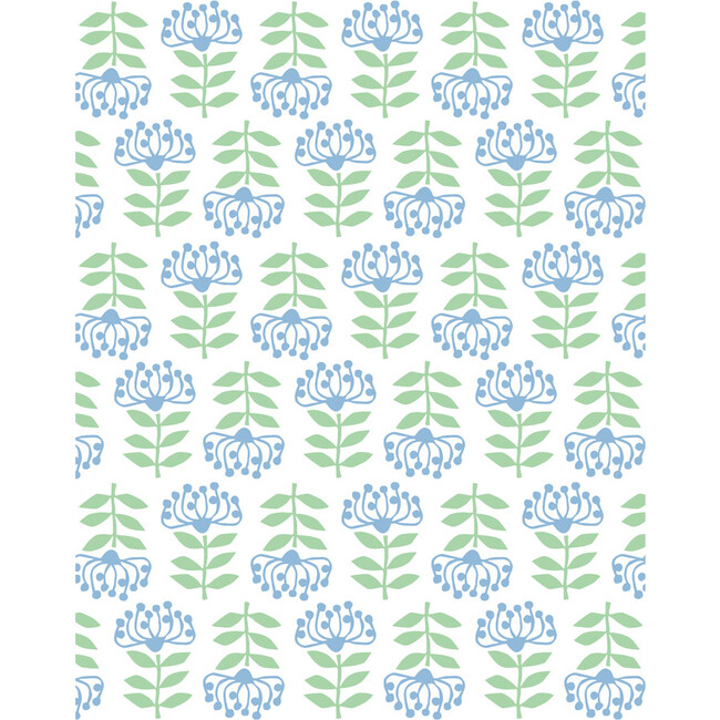 Tea Collection Stylized Papyrus Removable Wallpaper, Cornflower