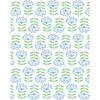 Tea Collection Stylized Papyrus Traditional Wallpaper, Cornflower - Wallpaper - 1 - thumbnail