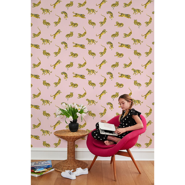 Tea Collection Tigers Removable Wallpaper, Ballet Slipper