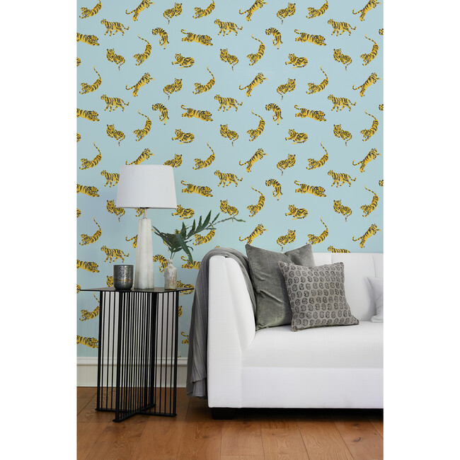 Tea Collection Tigers Traditional Wallpaper, Sky