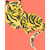 Tea Collection Tigers Traditional Wallpaper, Watermelon - Wallpaper - 3