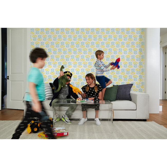 Tea Collection Stylized Papyrus Removable Wallpaper, Daffodil
