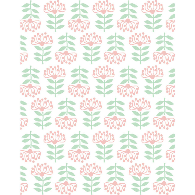 Tea Collection Stylized Papyrus Removable Wallpaper, Pink
